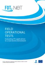 FOT-Net publishes brochure on Field Operational Tests