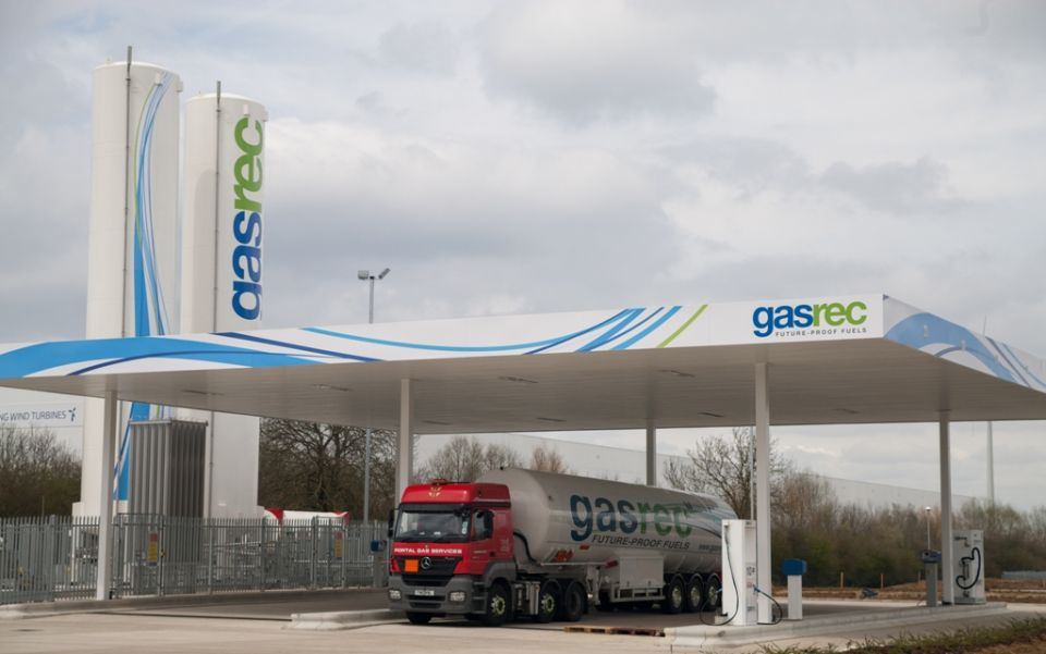 Gasrec open Britain's first Bio-LNG filling station