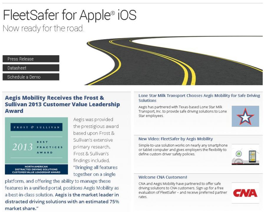 Aegis Mobility Creates 'Safe Driving' Solution for Apple iOS