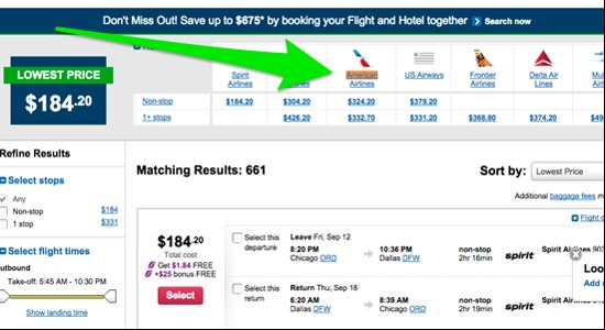 American Airlines fares are back on Orbitz