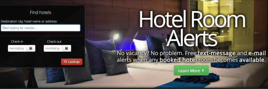 Startup pitch: Hotel Room Alerts surfaces hotel availability via text and e-mail
