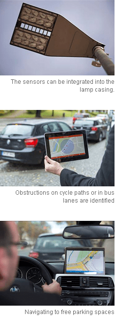 Siemens develops overhead sensor system to optimize the search for a parking space