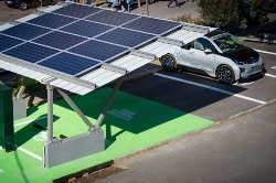 Greece launches first solar-powered electric vehicle charging station