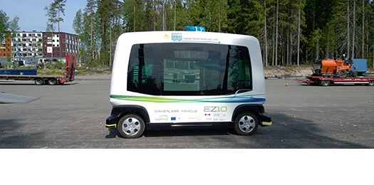 Driverless buses transport visitors to the Housing Fair in Kivistö