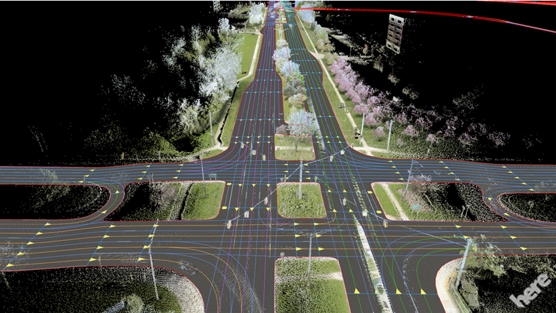 HERE makes HD map data in US, France, Germany and Japan available for automated vehicle tests