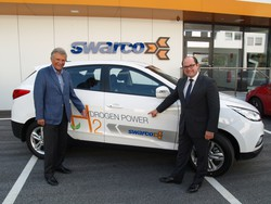 Manfred Swarovski receives hydrogen full cell car