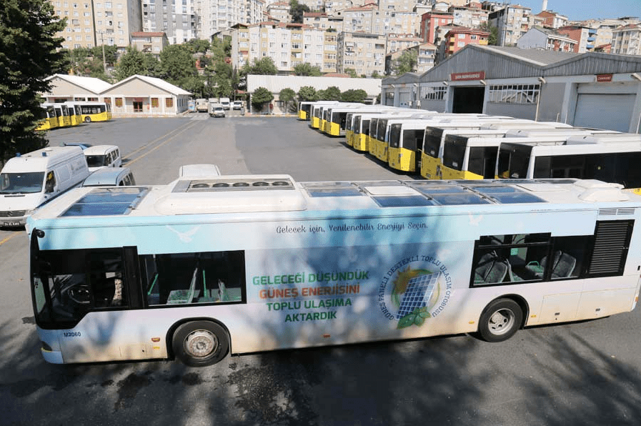 Istanbul unveils Turkey's first 'solar-powered' bus