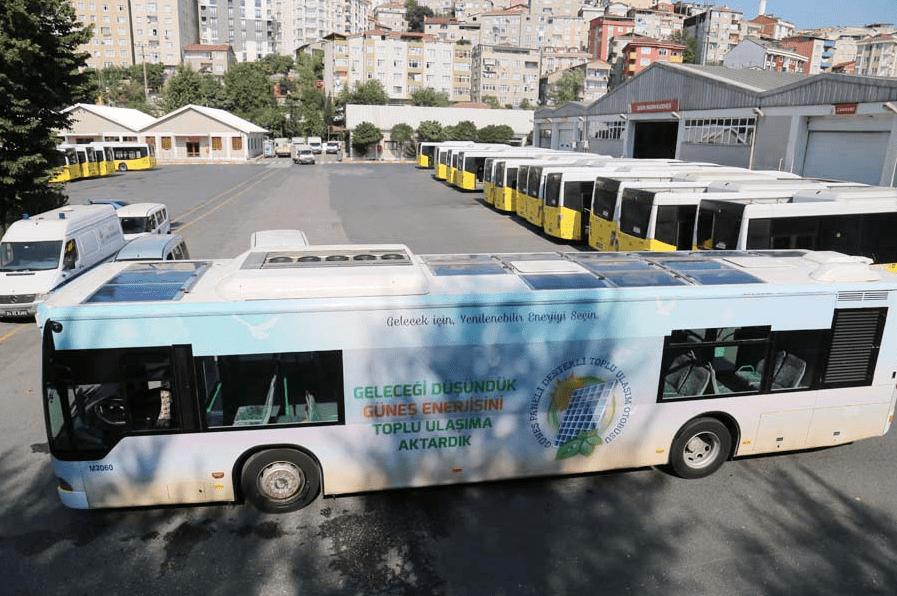 Istanbul unveils Turkey's first 'solar-powered' bus