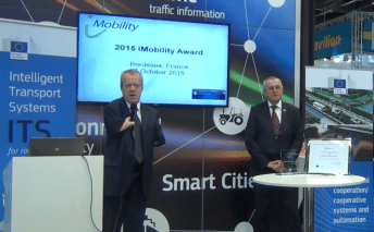 "Mr Alessandro Coda receives the 2015 iMobility ""Excellence in ITS Achievement"" Award"
