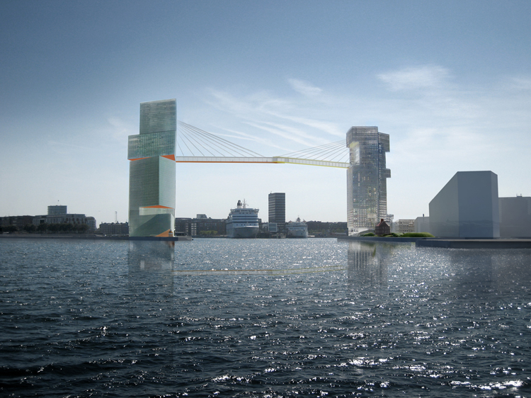 Copenhagen plans high-rise cycle and pedestrian bridge