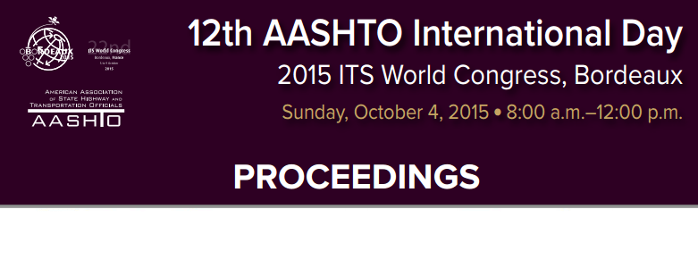 12th Annual AASHTO Day Proceedings now available