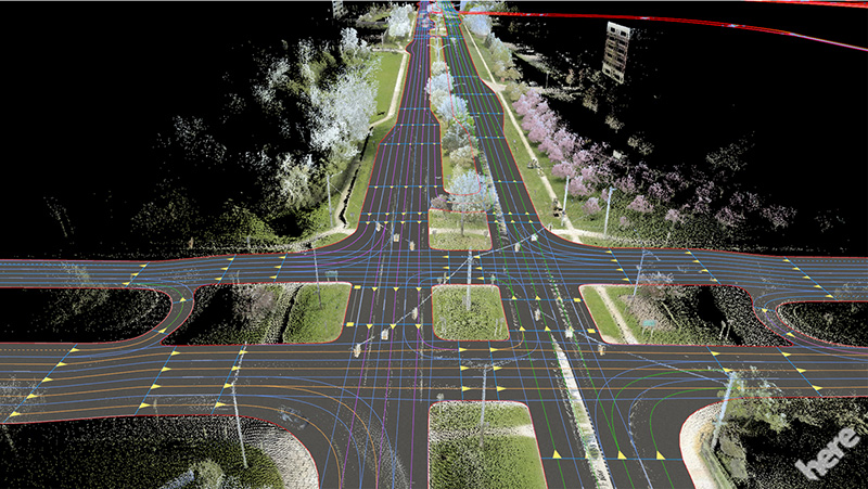 HERE introduces HD Live Map to show the path to highly automated driving