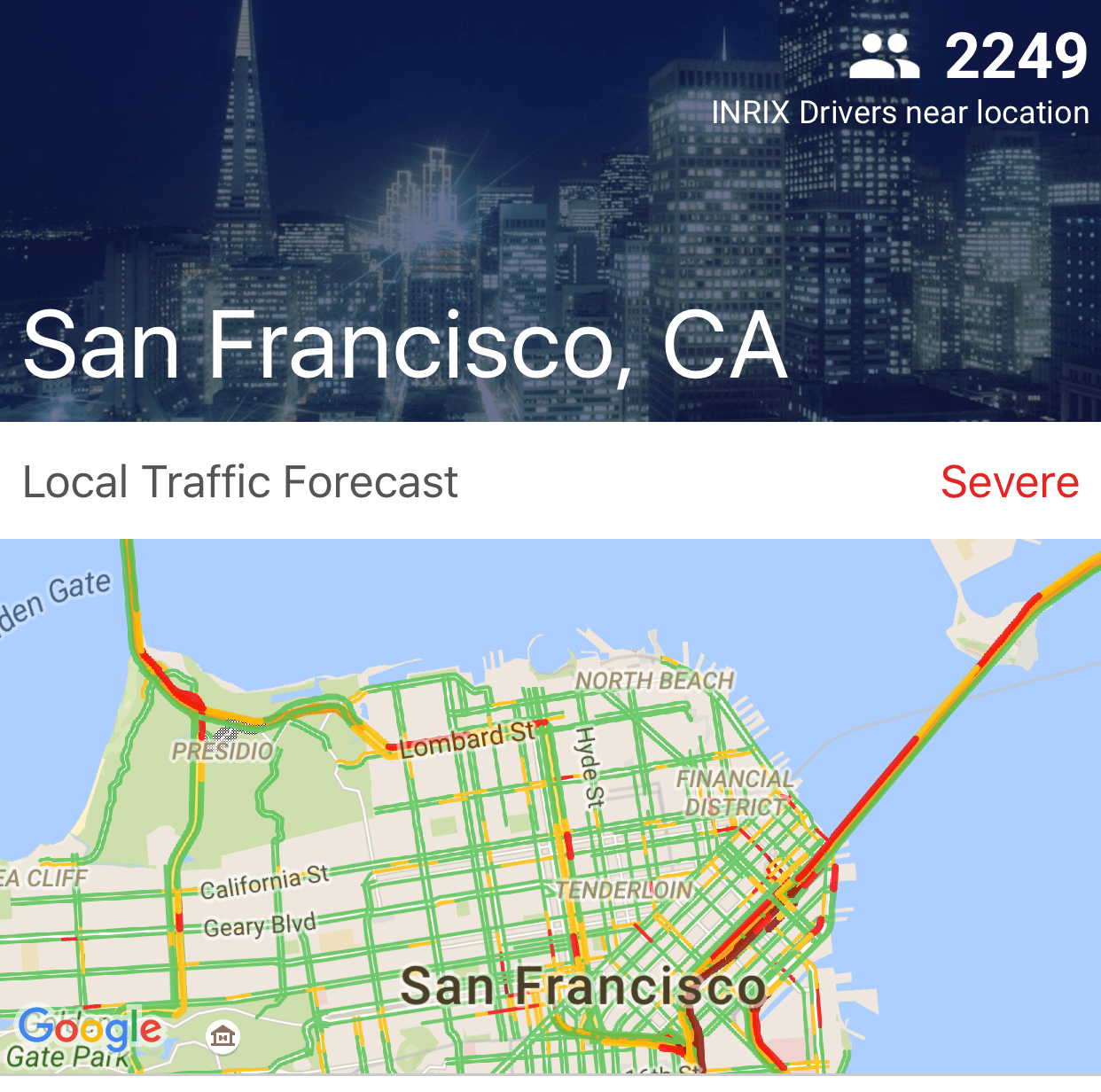 New INRIX Traffic Mobile App first to learn driving habits