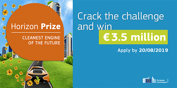 €5 million in Horizon Prizes to help create clean engines