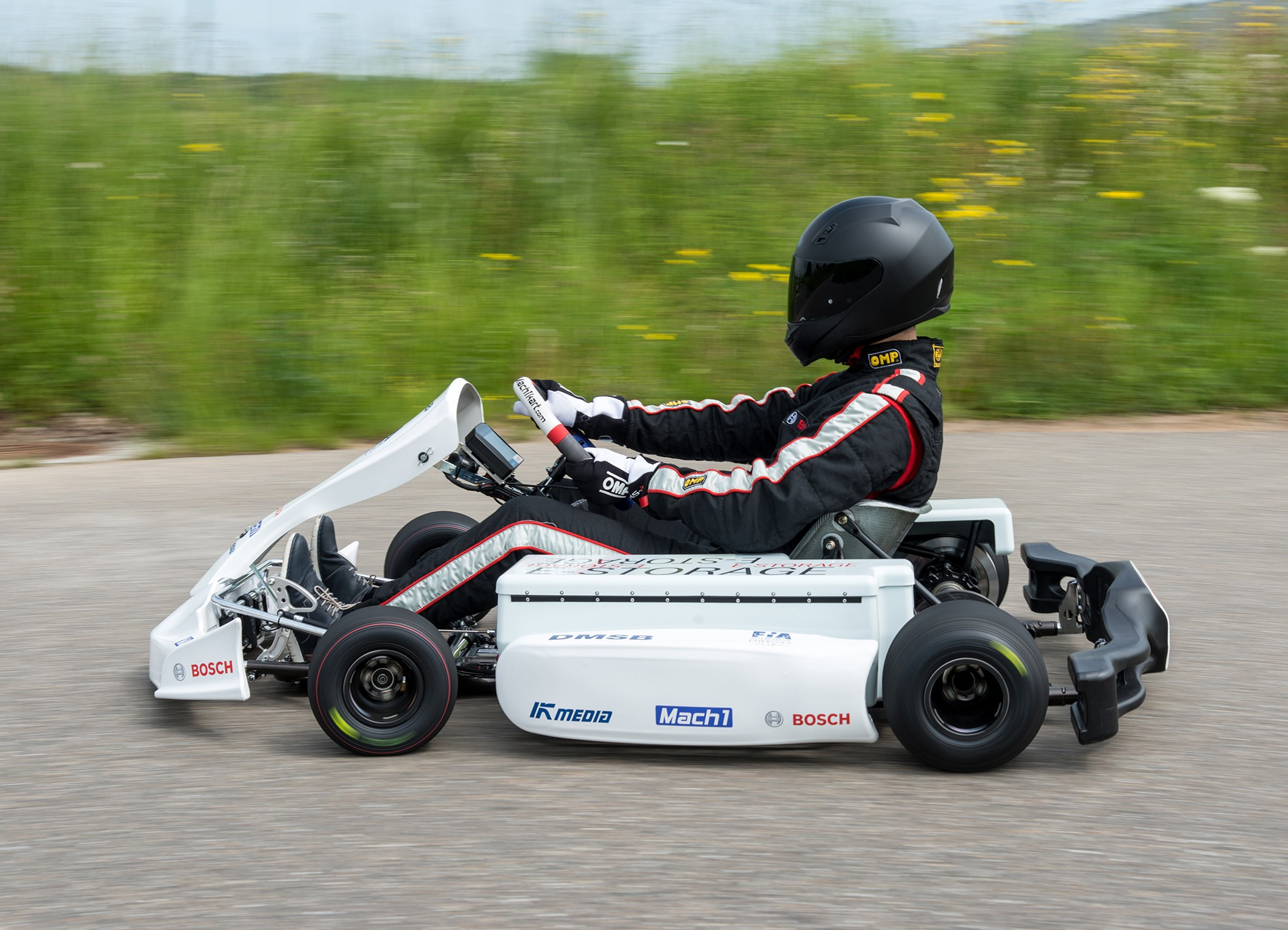 Bosch makes racing karts clean and quiet