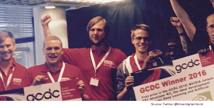 The Halmstad Team from Sweden won the Grand Cooperative Driving Challenge 2016