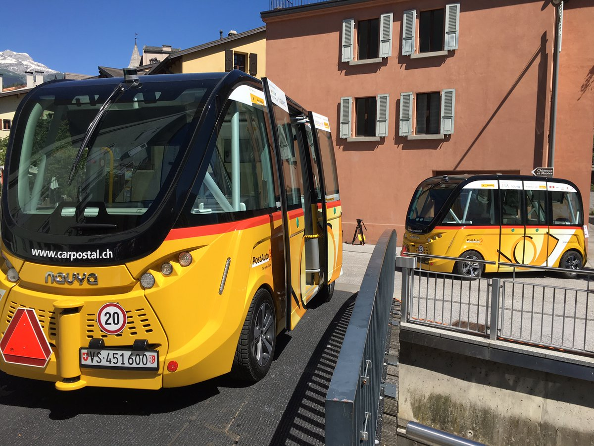 Autonomous buses begin testing in Switzerland