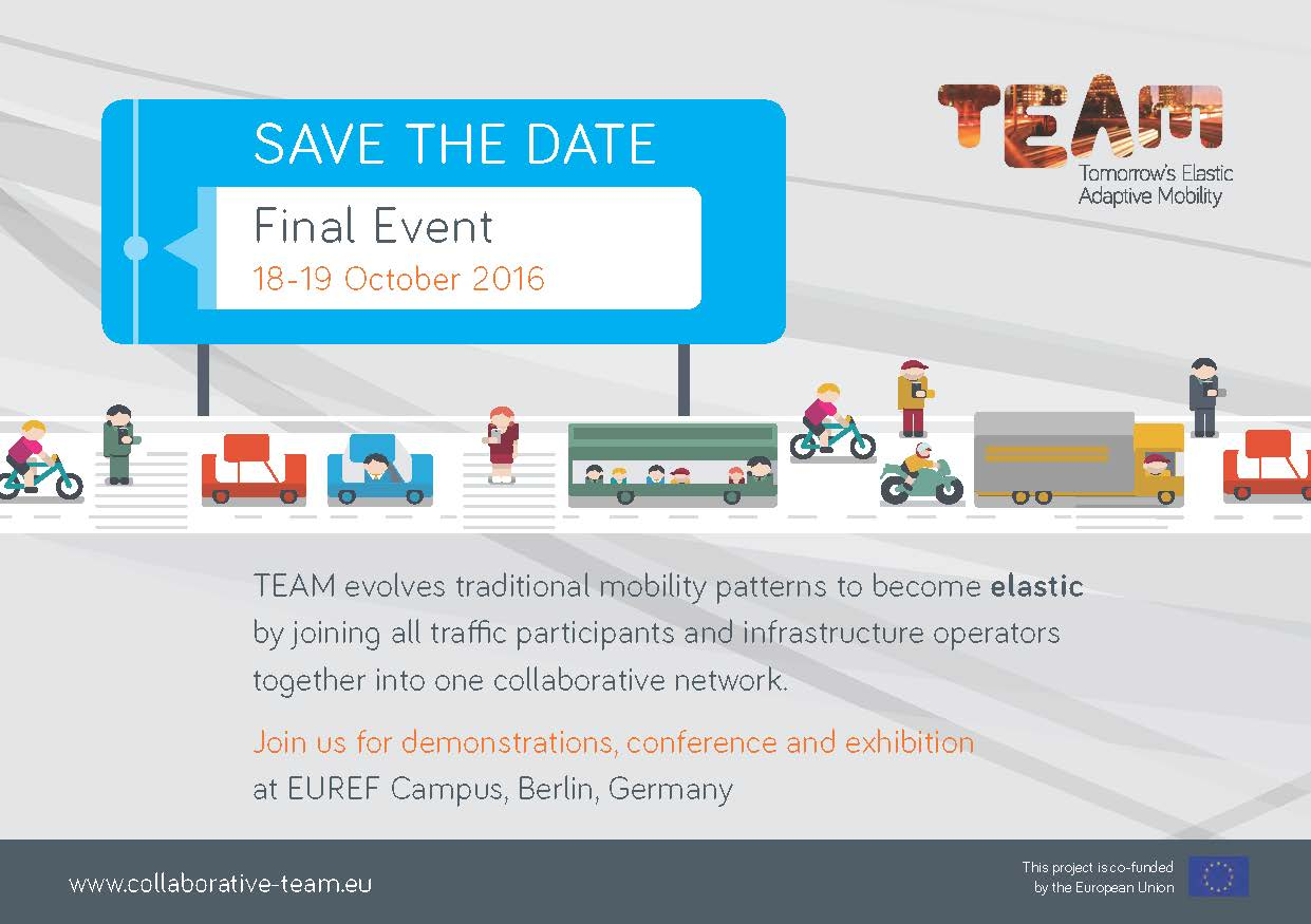 TEAM project to organise its final event in October