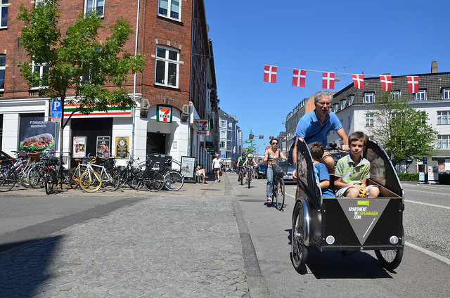 Denmark allows more kids in cargo-bike trailers