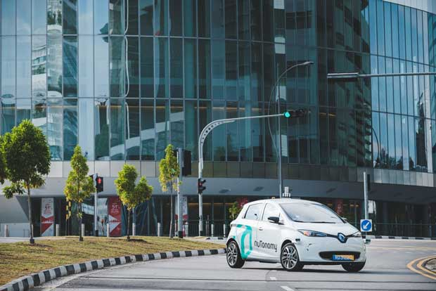 Singapore launches self driving taxi test