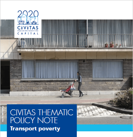 CIVITAS Thematic Policy Note on transport poverty now available