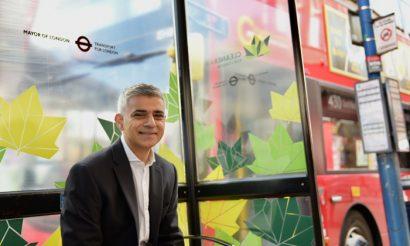 London mayor Sadiq Khan launches Low Emission Bus Zone