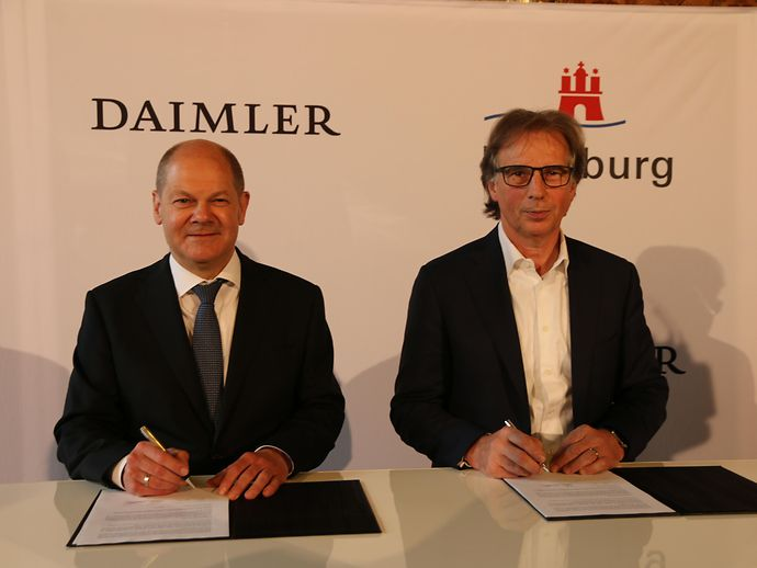 Hamburg and Daimler AG intensify their partnership