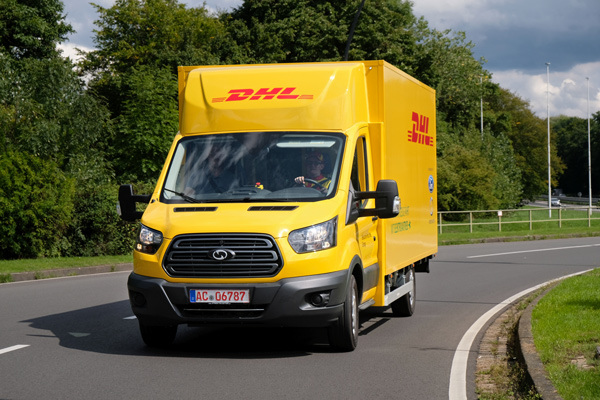DHL unveil new electric delivery van