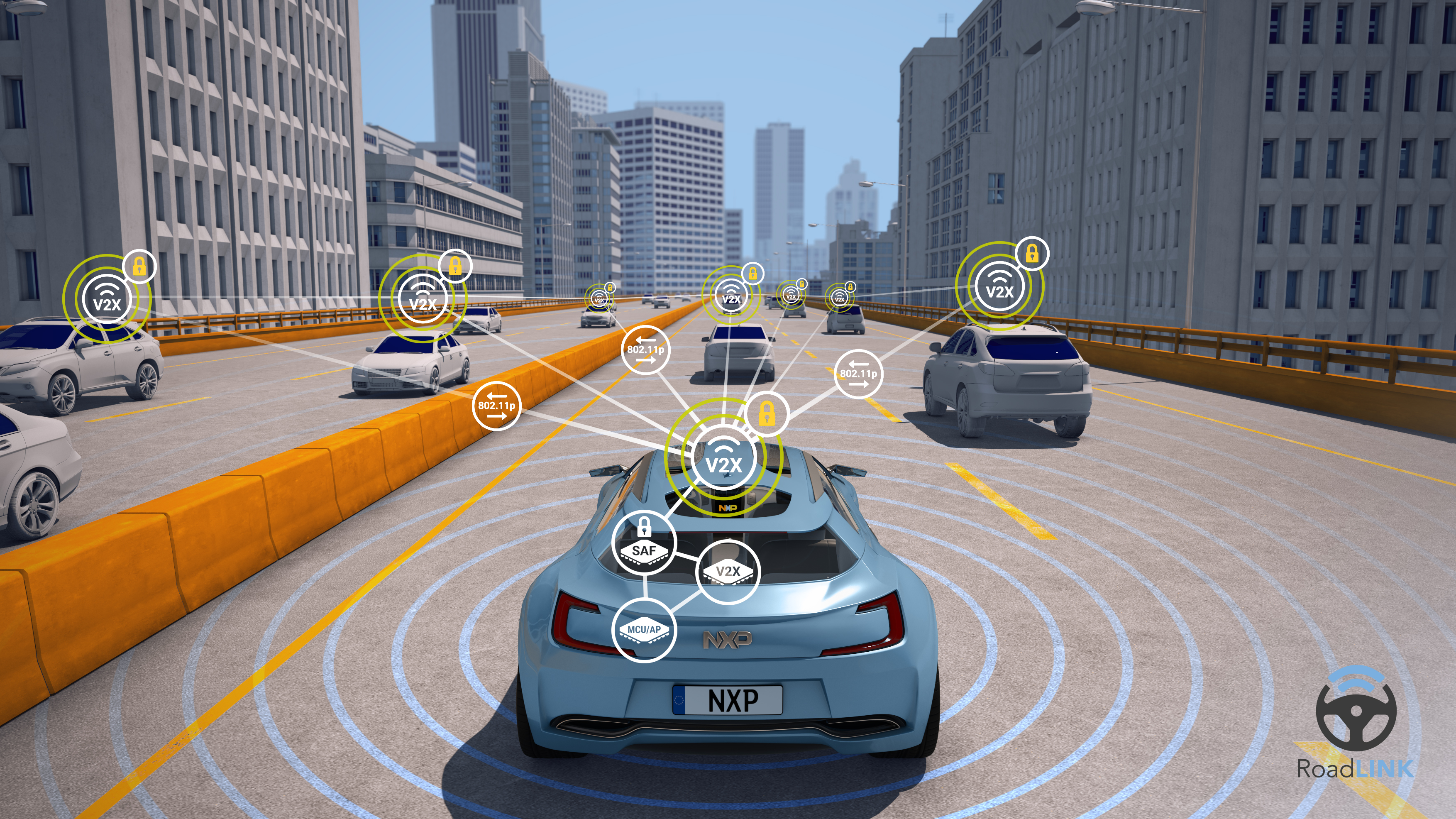 NXP launches world's first scalable, single-chip secure vehicle-to-X Platform