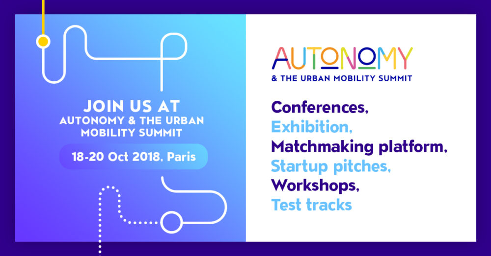 Secure a spot for Autonomy 2018 & the Urban Mobility Summit