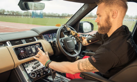 Jaguar Land Rover developed car door with gesture control