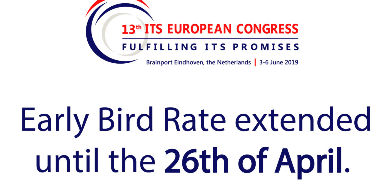 Early Bird Rate Extended to 26 April