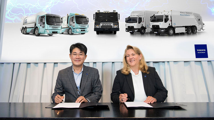 Volvo Group and Samsung partner for electromobility