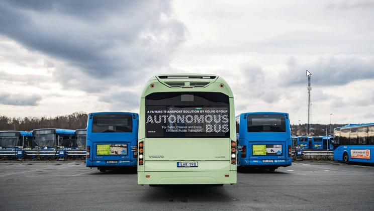 VOLVO BUSES DEMONSTRATES ELECTRIC AUTONOMOUS SOLUTION FOR BUS DEPOT