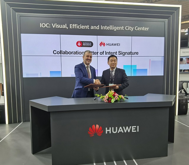 Fostering innovative technology: Huawei enters collaboration with Barcelona