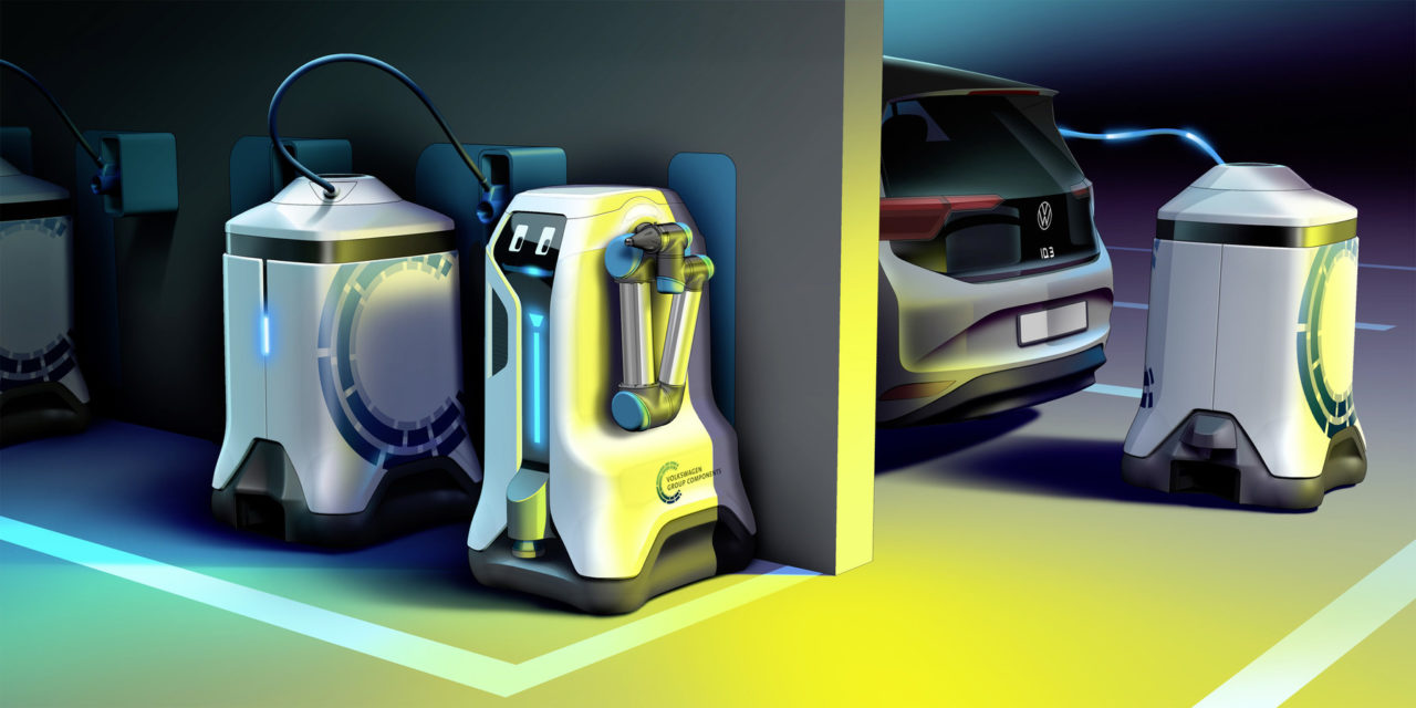 World premiere: Volkswagen lets its charging robots loose