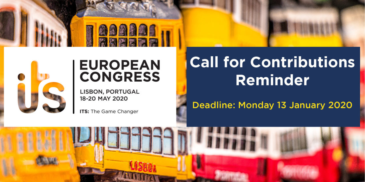 ITS European Congress 2020: last chance to submit your contribution