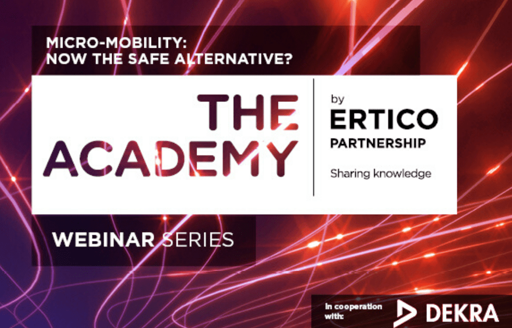 Join ERTICO and DEKRA to discuss the emergence of micro-mobility after COVID-19