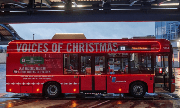 Brussels bus company STIB spreading Christmas wishes in song