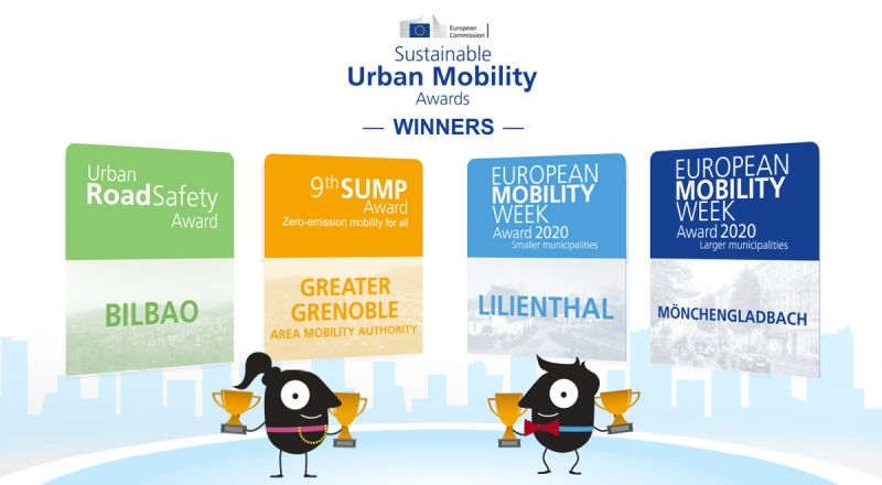 European sustainable mobility awards 2021 winners