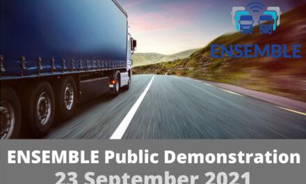 ENSEMBLE organises a multi-brand truck platooning live demo