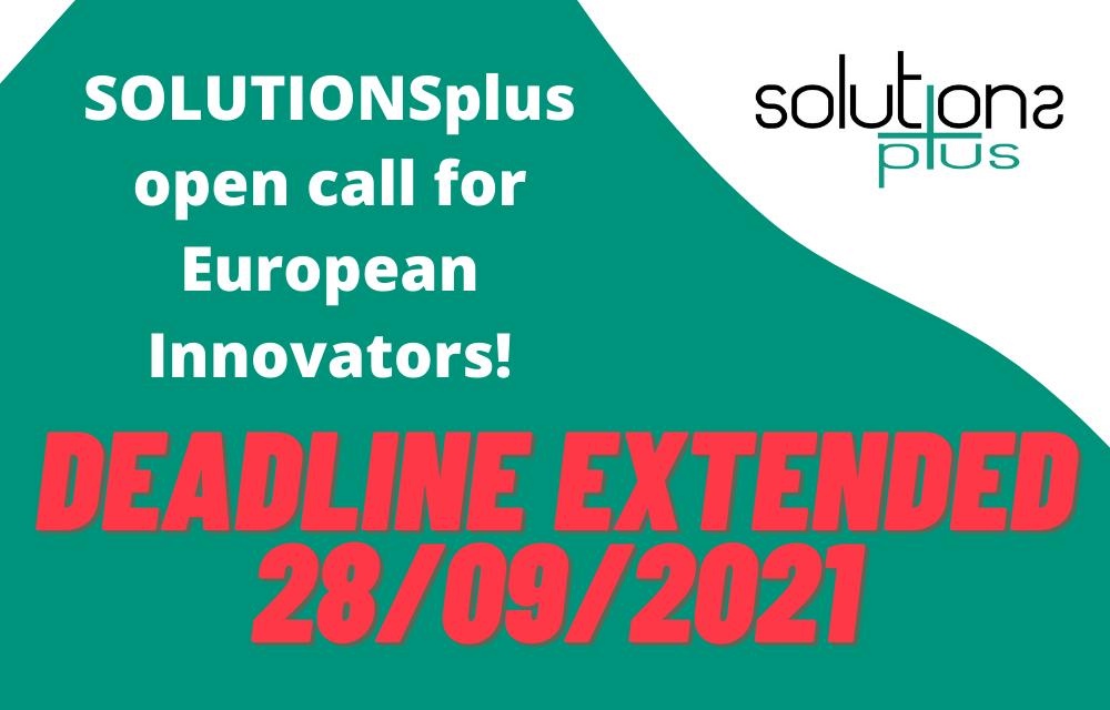 Deadline extended to apply for SOLUTIONSplus call for innovators