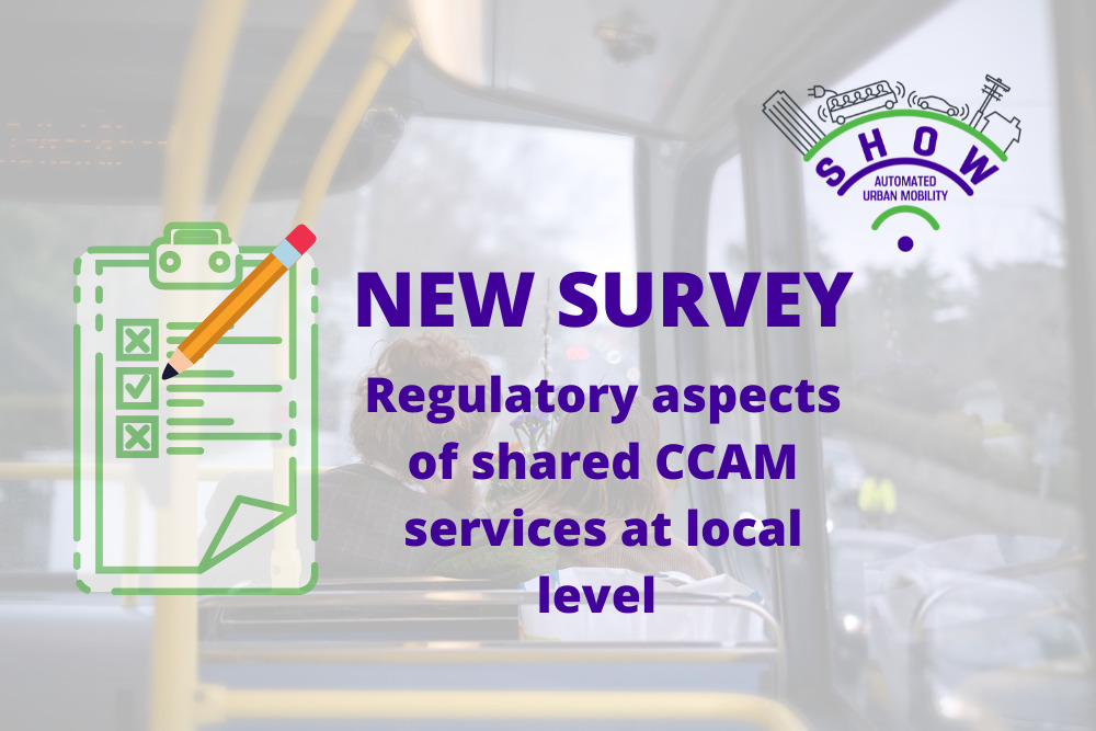 Contribute to SHOW's survey on regulatory aspects of shared CCAM services at local level